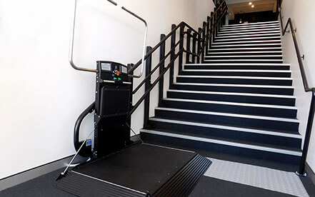 Inclined platform stairlift