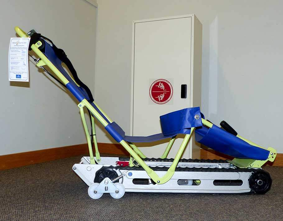 EvacuTrac evacuation chair side view