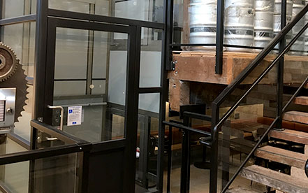 Genesis enclosure in a wooden brewery