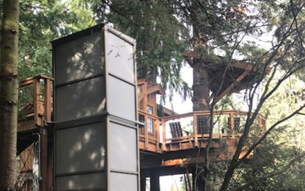 Genesis enclosure at a treehouse