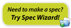 Specification Wizard