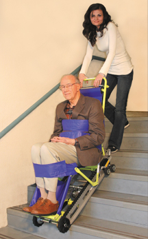 Garaventa Evacu-Trac CD7 evacuation stair chair operation picture