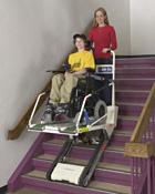 Super-Trac portable wheelchair lift picture